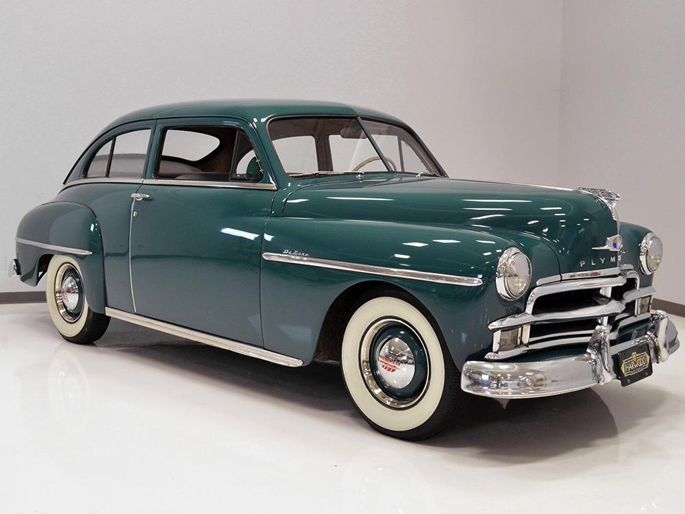 Harwood motors 1950 plymouth p19 deluxe 2 door sedan sold for 1950 plymouth 2 door sedan